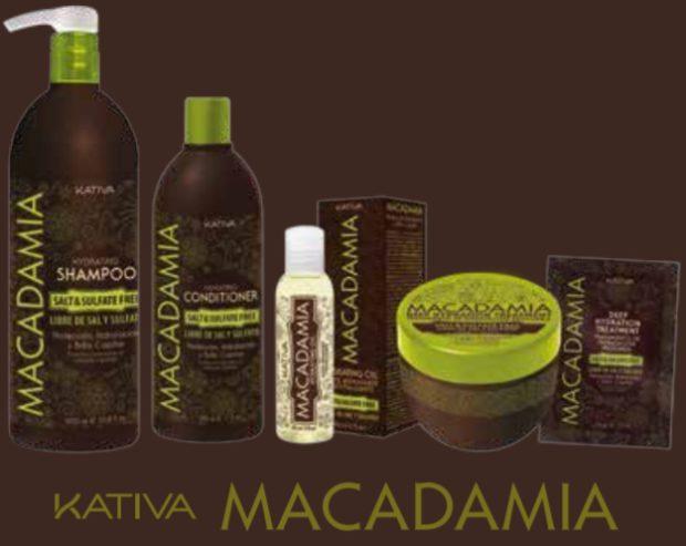 Линия на основе масла королевского ореха макадамии для мощнейшего укрепления и увлажнения волос «МАКАДАМИЯ» — KATIVA