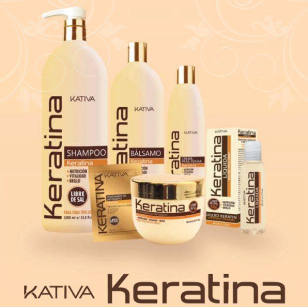 Линия с высоким содержанием кератина для моментального восстановления гладкости и структуры волос «КЕРАТИНА» — KATIVA