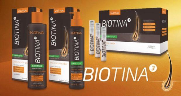 Линия против выпадения волос с биотином Biotina — KATIVA