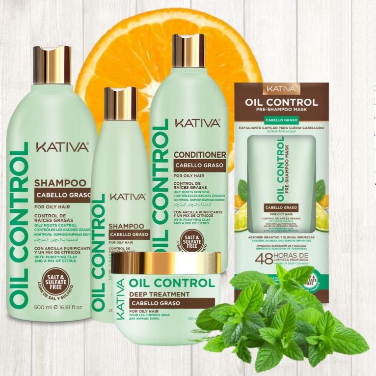 Линия для жирной кожи головы OIL CONTROL — KATIVA