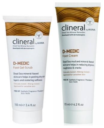 Линия для сухой кожи стоп при диабете Clineral D-medic — CLINERAL BY AHAVA
