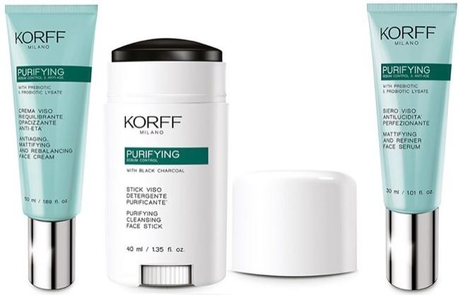 Матирующая антивозрастная линия для жирной и комбинированной кожи лица Purifying — KORFF