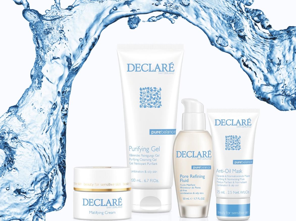 Линия средств для жирной и комбинированной кожи лица Pure Balance — DECLARE