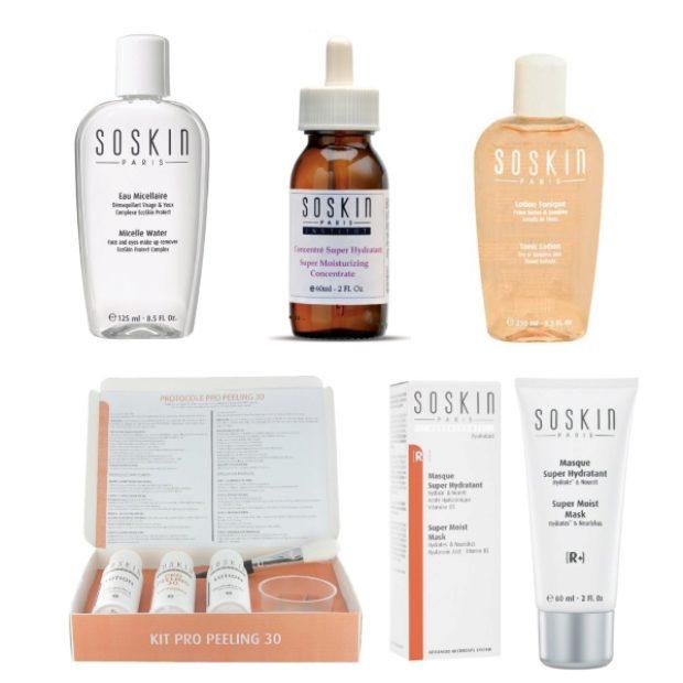 Линия для нормальной, сухой и чувствительной кожи лица — SOSKIN