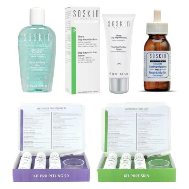 Линия для жирной и комбинированной кожи лица — SOSKIN